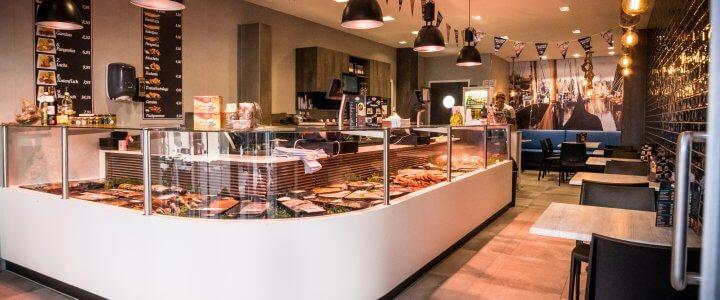 Nieuwe winkel Käse und Fischspezialsit Hop, Kleve (D)